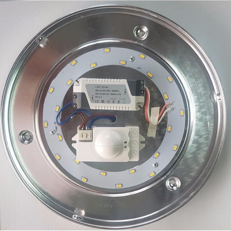 Led Applique 260mm 14W avec détecteur réglable 4000K Neuf Look Industriel