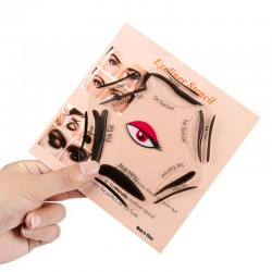 Pochoir Eyeliner Stencil Cat Eye - 10 formes - Plus de BAVURES !