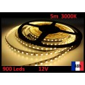 Ruban 3000K Bandeau Led Strip 5m 900 Leds de puissance 12V