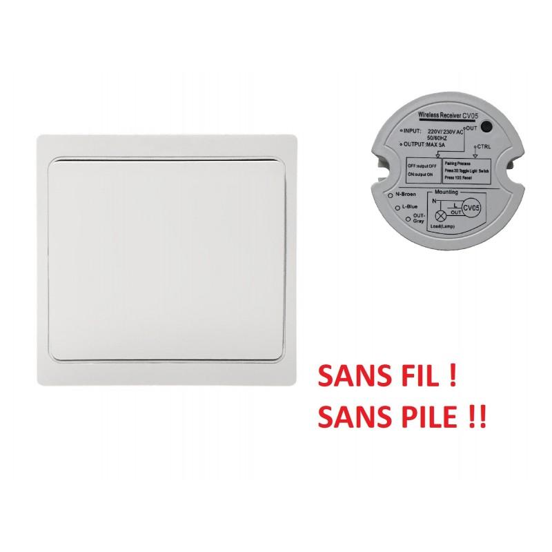 Pack Interrupteur et Récepteur sans fil sans pile Kinetic