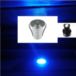 Spot Led Encastré Inox Jardin enterré - Inground - Underground 24V 1W Bleu