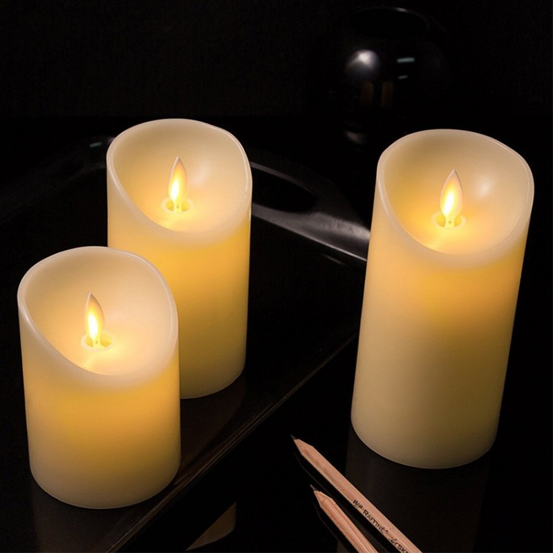 pack de 3 bougie led vacillante la flamme bouge vraiment neuf avec piles led promo. Black Bedroom Furniture Sets. Home Design Ideas