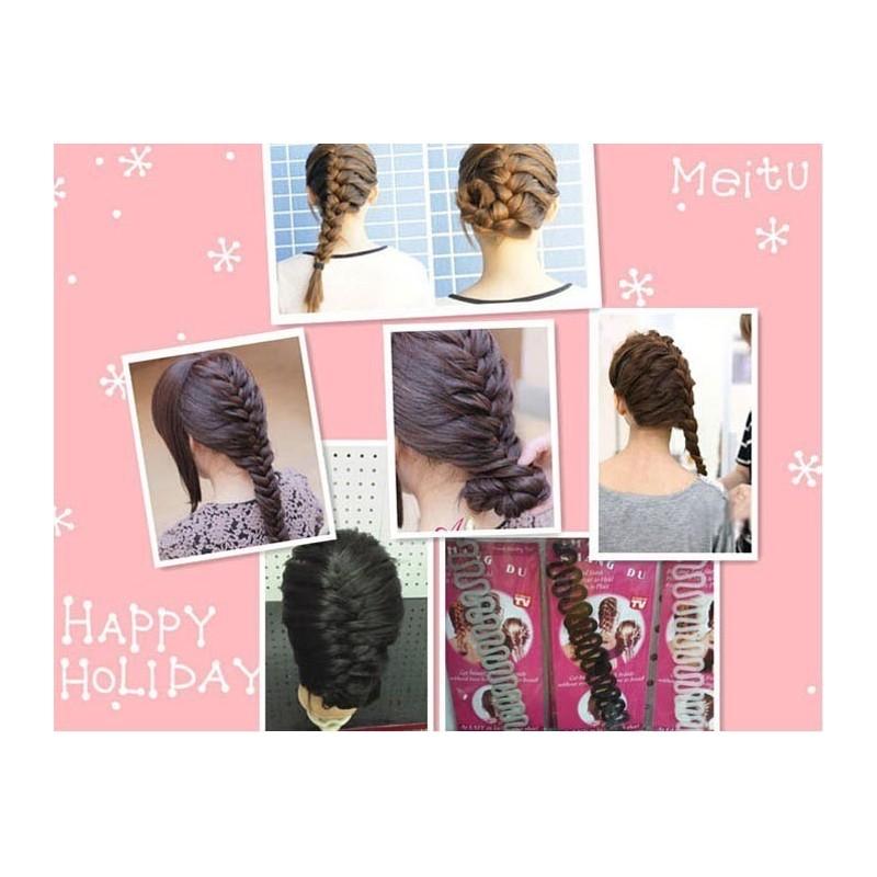 Outils Tresse Chignon , coiffure, flip , bun Maker, Neuf, livre en 48h Gratuit